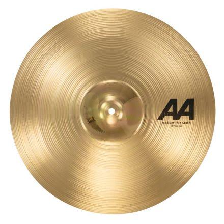 """Sabian AA Medium Thin Crash Cymbal 18"""" Brilliant"""