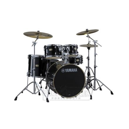"Yamaha Stage Custom Birch 5pc Drum Set w/ 20"" BD Raven Black"