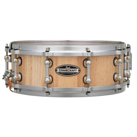 Pearl Stavecraft Thai Oak Snare Drum - 14x5 - Hand Rubbed Natural