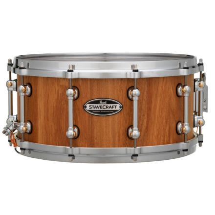 Pearl Stavecraft Makha Snare Drum - 14x6.5 - Hand Rubbed Natural Finish