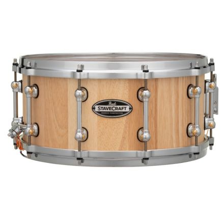 Pearl Stavecraft Thai Oak Snare Drum - 14x6.5 - Hand Rubbed Natural