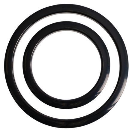 Gibraltar Port Hole Protector 4 inches, Black Finish