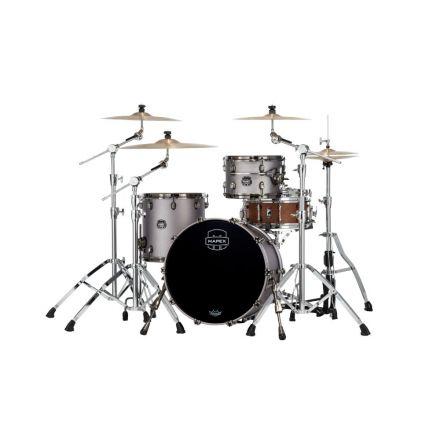 Mapex Saturn Evolution Hybrid Straight Ahead 3 Drum Set Without Snare - 20/ 12/14 - Gun Metal Grey