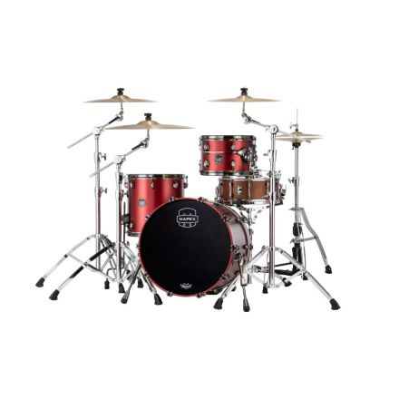 Mapex Saturn Evolution Hybrid Straight Ahead 3 Drum Set Without Snare - 20/ 12/14 - Tuscan Red