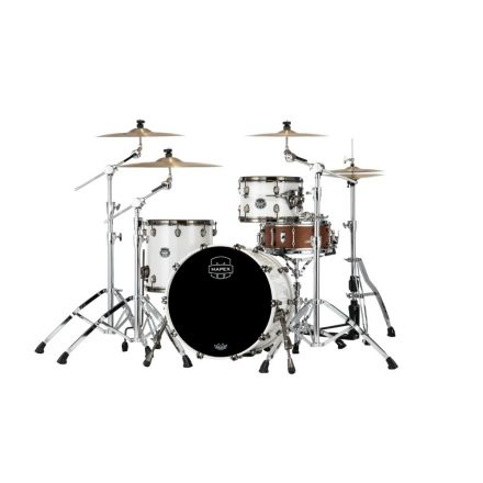 Mapex Saturn Evolution Hybrid Straight Ahead 3 Drum Set Without Snare - 20/ 12/14 - Polar White