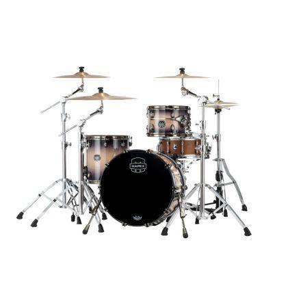 Mapex Saturn Evolution Hybrid Straight Ahead 3 Drum Set Without Snare - 20/ 12/14 - Exotic Violet Burst