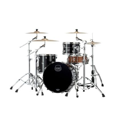 Mapex Saturn Evolution Hybrid Straight Ahead 3 Drum Set Without Snare - 20/ 12/14 - Piano Black