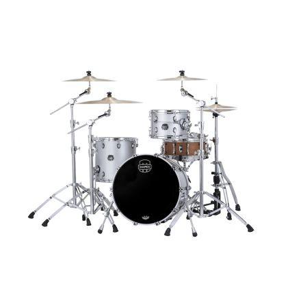 Mapex Saturn Evolution Hybrid Straight Ahead 3 Drum Set Without Snare - 20/12/14 - Iridium Silver