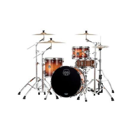 Mapex Saturn Evolution Hybrid Straight Ahead 3 Drum Set Without Snare - 20/ 12/14 - Exotic Sunburst