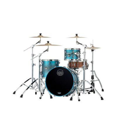 Mapex Saturn Evolution Hybrid Straight Ahead 3 Drum Set Without Snare - 20/ 12/14 - Exotic Azure Burst