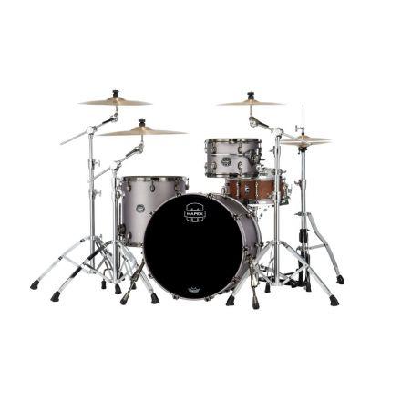 Mapex Saturn Evolution Hybrid Organic Rock 3 Pc Drum Set Without Snare - 22/12/16 - Gun Metal Grey