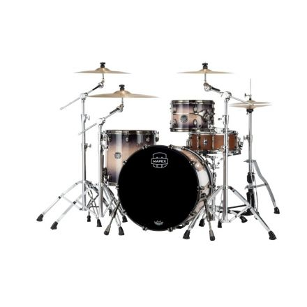 Mapex Saturn Evolution Hybrid Organic Rock 3 Pc Drum Set Without Snare - 22/12/16 - Exotic Violet Burst