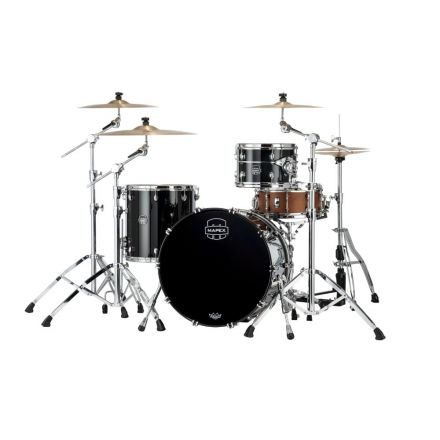 Mapex Saturn Evolution Hybrid Organic Rock 3 Pc Drum Set Without Snare - 22/12/16 - Piano Black