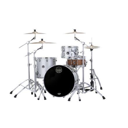 Mapex Saturn Evolution Hybrid Organic Rock 3 Pc Drum Set Without Snare - 22/12/16 - Iridium Silver