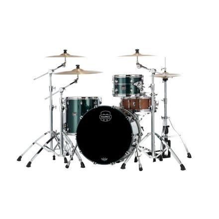 Mapex Saturn Evolution Hybrid Organic Rock 3 Pc Drum Set Without Snare - 22/12/16 - Brunswick Green