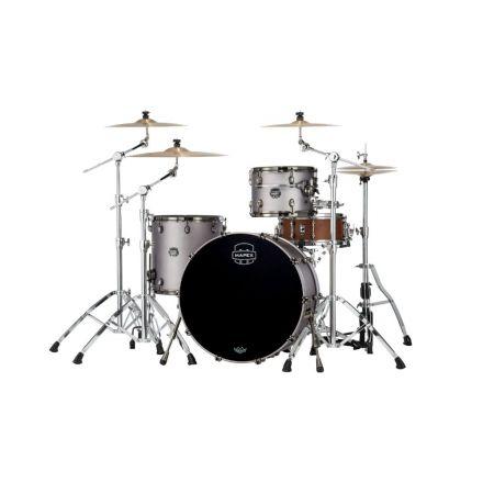 Mapex Saturn Evolution Hybrid Powerhouse Rock 3 Pc Drum Set Without Snare - 24/13/16 - Gun Metal Grey