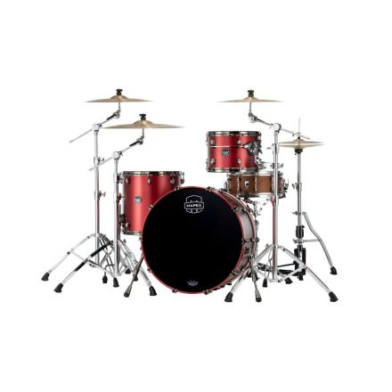 Mapex Saturn Evolution Hybrid Powerhouse Rock 3 Pc Drum Set Without Snare - 24/13/16 - Tuscan Red