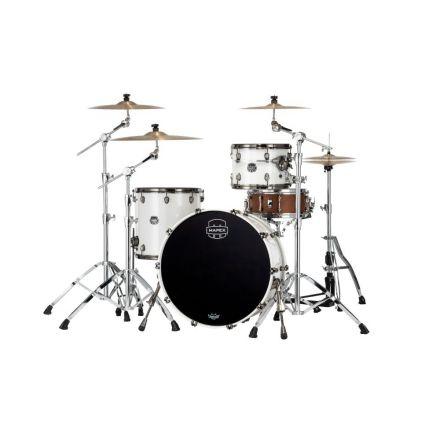 Mapex Saturn Evolution Hybrid Powerhouse Rock 3 Pc Drum Set Without Snare - 24/13/16 - Polar White