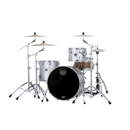 Mapex Saturn Evolution Hybrid Powerhouse Rock 3 Pc Drum Set Without Snare - 24/13/16 - Iridium Silver