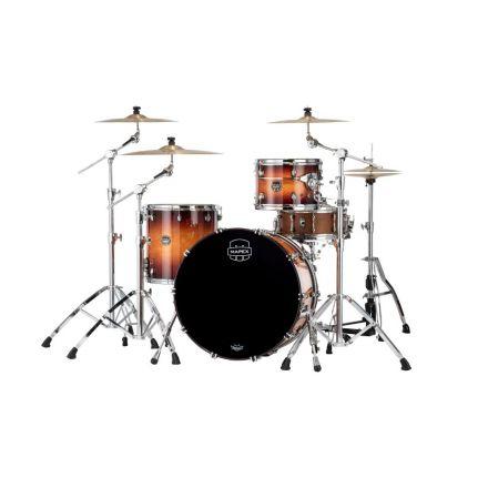 Mapex Saturn Evolution Hybrid Powerhouse Rock 3 Pc Drum Set Without Snare - 24/13/16 - Exotic Sunburst