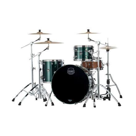 Mapex Saturn Evolution Hybrid Powerhouse Rock 3 Pc Drum Set Without Snare - 24/13/16 - Brunswick Green