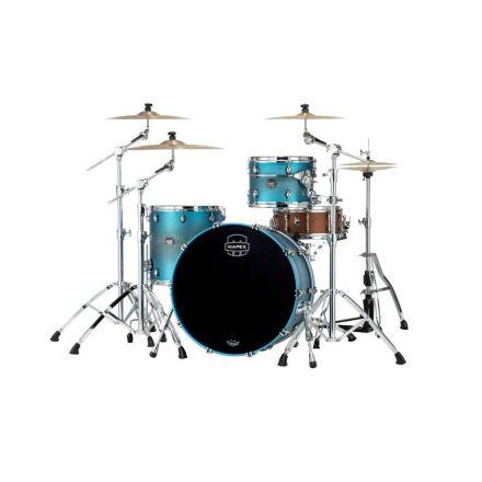 Mapex Saturn Evolution Hybrid Powerhouse Rock 3 Pc Drum Set Without Snare - 24/13/16 - Exotic Azure Burst