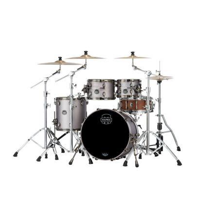 Mapex Saturn Evolution Fusion 4 Pc Birch Drum Set Without Snare - 20/10/12/14 - Gun Metal Grey