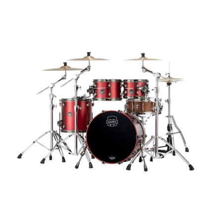Mapex Saturn Evolution Fusion 4 Pc Maple Drum Set Without Snare - 20/10/12/14 - Tuscan Red