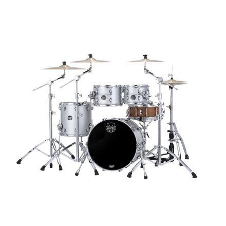 Mapex Saturn Evolution Fusion 4 Pc Maple Drum Set Without Snare - 20/10/12/14 - Iridium Silver