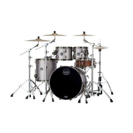 Mapex Saturn Evolution Rock 4 Pc Birch Drum Set Without Snare - 22/10/12/16 - Gun Metal Grey