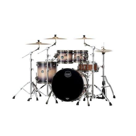 Mapex Saturn Evolution Rock 4 Pc Birch Drum Set Without Snare - 22/10/12/16 - Exotic Violet Burst