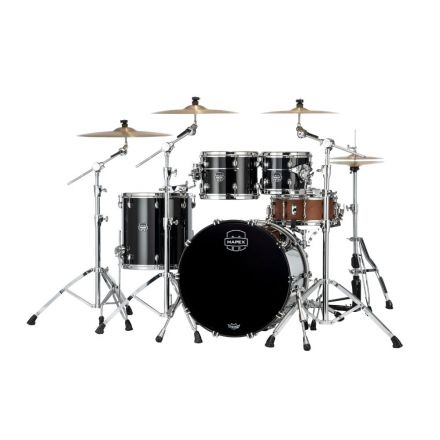 Mapex Saturn Evolution Rock 4 Pc Birch Drum Set Without Snare - 22/10/12/16 - Piano Black