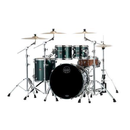 Mapex Saturn Evolution Rock 4 Pc Birch Drum Set Without Snare - 22/10/12/16 - Brunswick Green