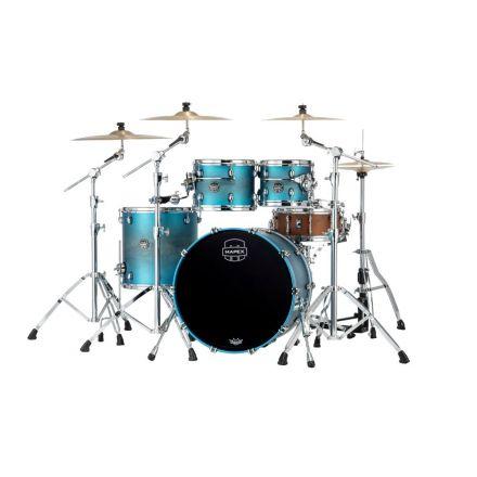 Mapex Saturn Evolution Rock 4 Pc Birch Drum Set Without Snare - 22/10/12/16 - Exotic Azure Burst