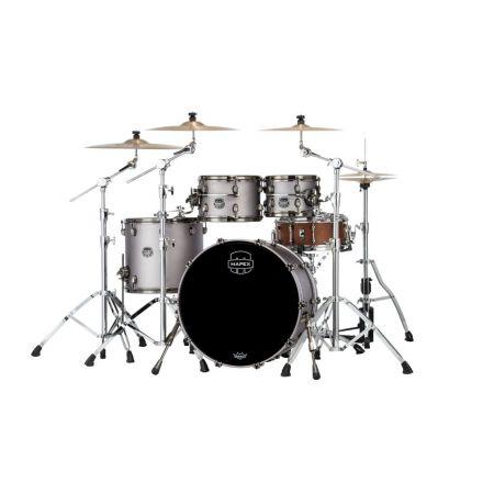 Mapex Saturn Evolution Classic 4 Pc Birch Drum Set Without Snare - 22/10/12/16 - Gun Metal Grey