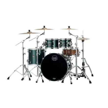 Mapex Saturn Evolution Classic 4 Pc Maple Drum Set Without Snare - 22/10/12/16 - Brunswick Green