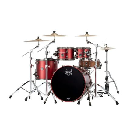 Mapex Saturn Evolution Classic 4 Pc Birch Drum Set Without Snare - 22/10/12/16 - Tuscan Red