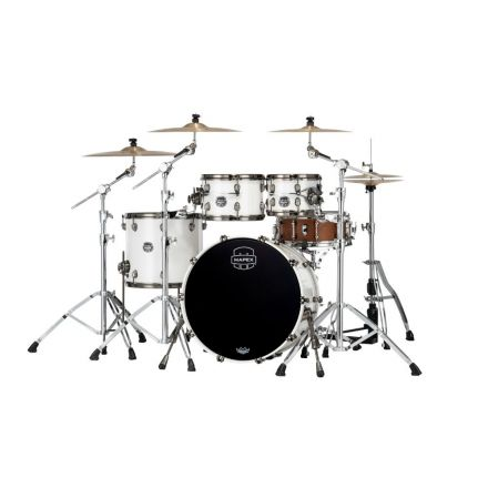 Mapex Saturn Evolution Classic 4 Pc Birch Drum Set Without Snare - 22/10/12/16 - Polar White