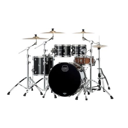 Mapex Saturn Evolution Classic 4 Pc Birch Drum Set Without Snare - 22/10/12/16 - Piano Black