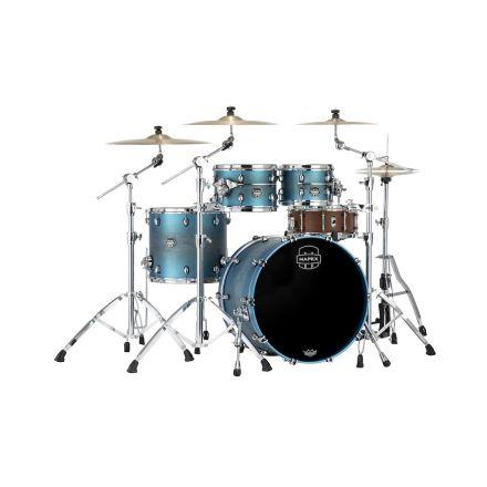 Mapex Saturn Evolution Rock 4 Pc Maple Drum Set Without Snare - 22/10/12/16 - Exotic Azure Burst