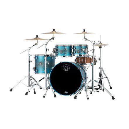 Mapex Saturn Evolution Classic 4 Pc Maple Drum Set Without Snare - 22/10/12/16 - Exotic Azure Burst