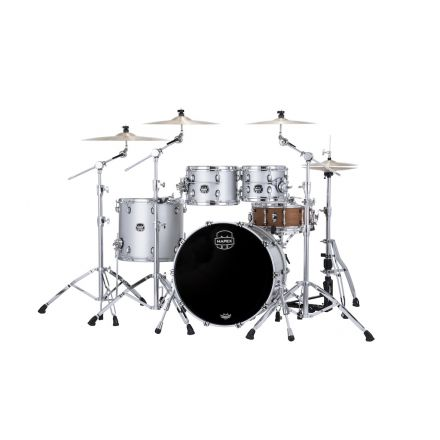 Mapex Saturn Evolution Rock 4 Pc Birch Drum Set Without Snare - 22/10/12/16 - Iridium Silver