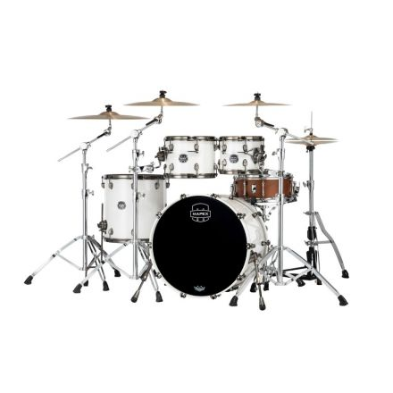 Mapex Saturn Evolution Rock 4 Pc Maple Drum Set Without Snare - 22/10/12/16 - Polar White