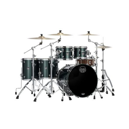 Mapex Saturn Evolution Workhorse 5 Pc Maple Drum Set Without Snare - 22/10/12/14/16 - Brunswick Green