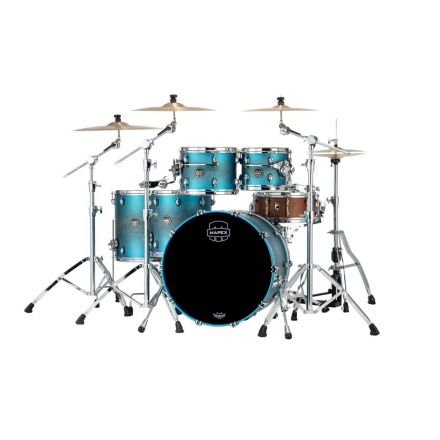 Mapex Saturn Evolution Workhorse 5 Pc Birch Drum Set Without Snare - 22/10/12/14/16 - Exotic Azure Burst