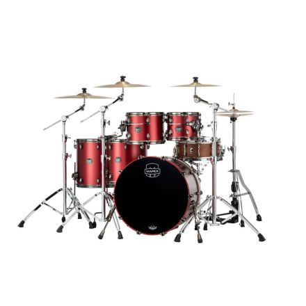 Mapex Saturn Evolution Workhorse 5 Pc Maple Drum Set Without Snare - 22/10/12/14/16 - Tuscan Red