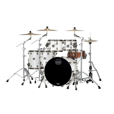 Mapex Saturn Evolution Workhorse 5 Pc Maple Drum Set Without Snare - 22/10/12/14/16 - Polar White