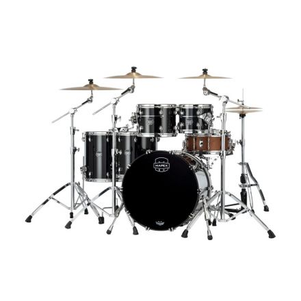 Mapex Saturn Evolution Workhorse 5 Pc Maple Drum Set Without Snare - 22/10/12/14/16 - Piano Black