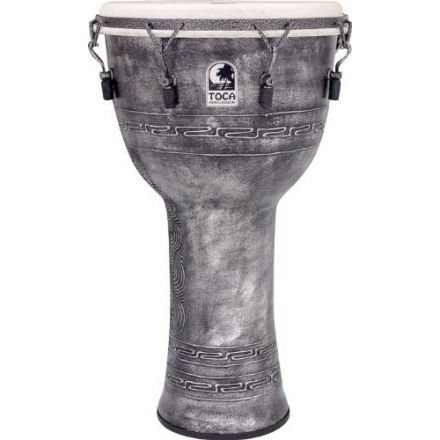 """Toca Freestyle Mechanically Tuned Djembe 14"""" Antique Silver w/Bag"""