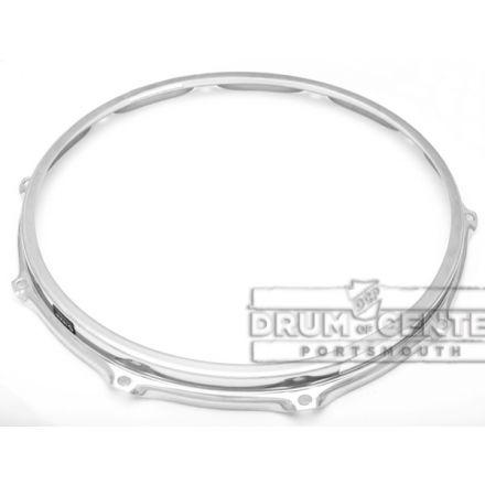"""S-hoop Drum Hoops : 14"""" 10 Hole Chrome/Steel Bottom"""